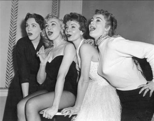 Julie Andrews, Edie Adams, Janet Blair & Shirley Jones in 1957