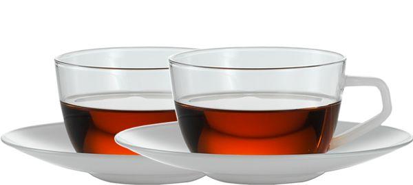 JENAER GLAS Tasse Dreams mit Untertasse, Weiß für Chai, 150 ml