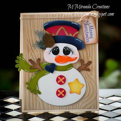 M. Miranda Creations: Country Snowman Tag - Day 8 of 12 Days of Christmas Tags w/ Treasure Box Designs