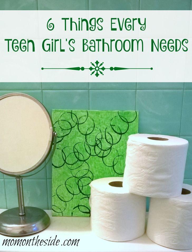 6 Things Every Teen Girl's Bathroom Needs + DIY Art Piece #CraftedExperience ad