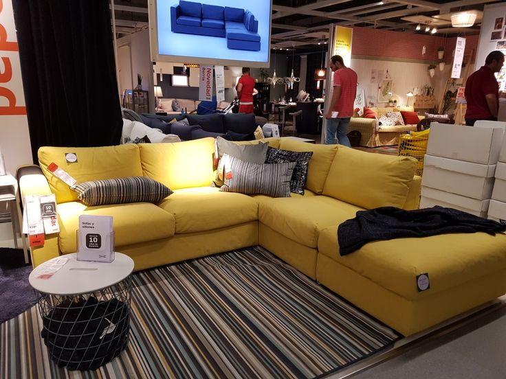 Sofa Vimle 3 plazas abierto amarillo IKEA  Livingroom