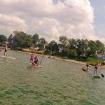 Paddle Board Rentals are a fun way for a family to spend a weekend afternoon on Lake Erie.