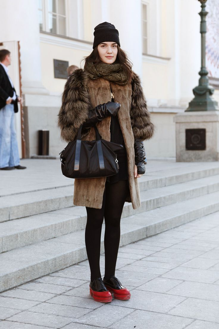 48 Best Street Style Russia Images On Pinterest Fashion Street Styles Moscow And Russian