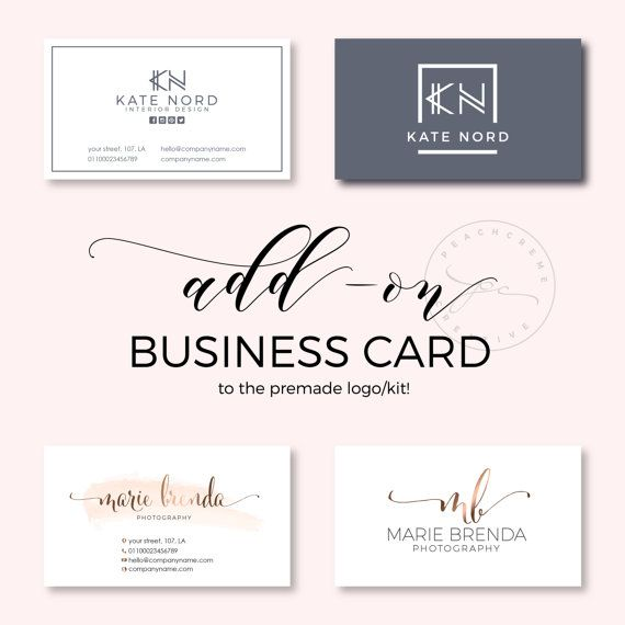 Add-on Business Card Premade Business Card Template by PeachCreme
