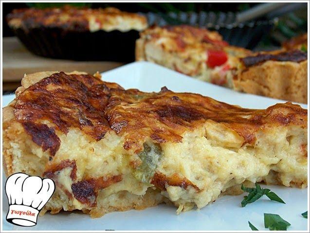 ΕκτύπωσηΣυνταγής ΤΥΡΕΝΙΑ ΤΑΡΤΑ ΚΟΤΟΠΟΥΛΟΥ!!! By Γωγώ 19 Νοεμβρίου 2014 Είστε λάτρεις του κοτόπουλου;Ριγείτε κάθε φορά που γεύεστε τυρί;Ενθουσιάζεστε κάθε φορά που πλημμυρίζει η κρέμα γάλακτος τον ουρανίσκο σας;Αν συμβαίνουν όλα τα παραπάνω,τότε είσαστε στο ΣΩΣΤΟ μέρος!Γιατι σήμερα σας έχω μια μοναδική τυρένια τάρτα κοτόπουλου με 2 ειδών τυριά δεμενα ολα μεταξύ τους με βελούδινη κρέμα …