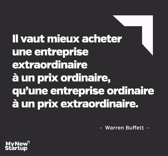 Warren Buffett #citation #entrepreneur #entreprise
