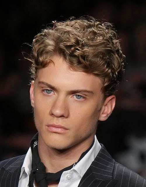 20.Short Curly Hairstyle for Men