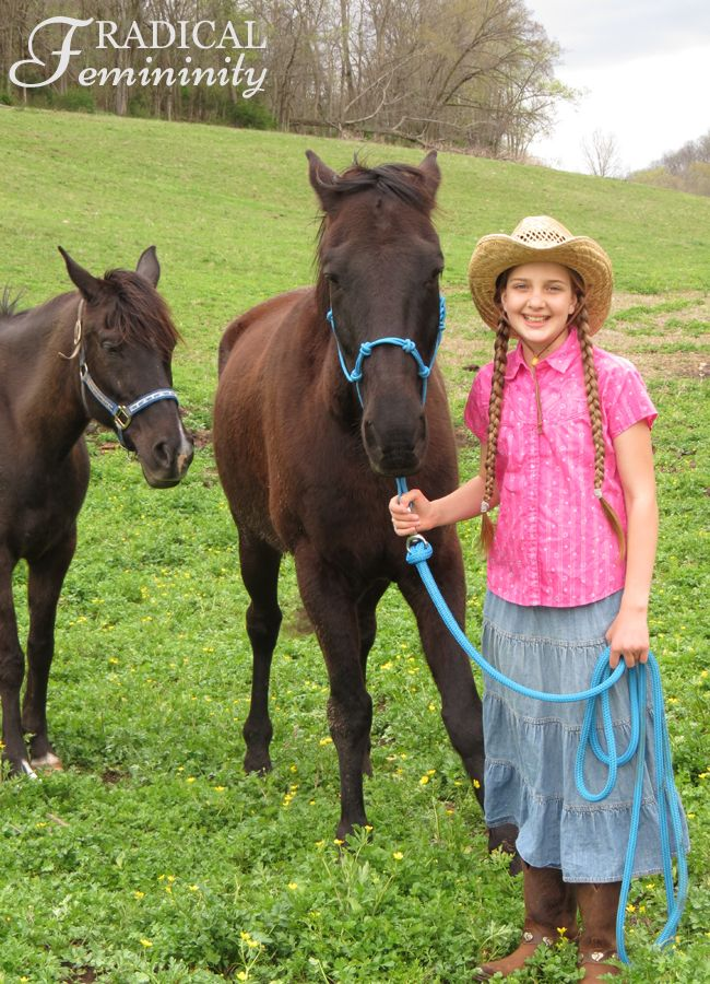 Little Cowgirl - And A Modest Outfit
