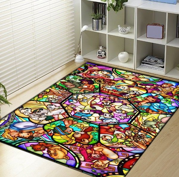 All disney heroes stained Blanket