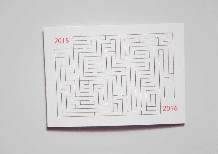 Carte de voeux nouvel an 2016 : Cartes par miska-creations