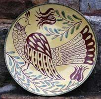Pennsylvania Redware using the sgraffito technique