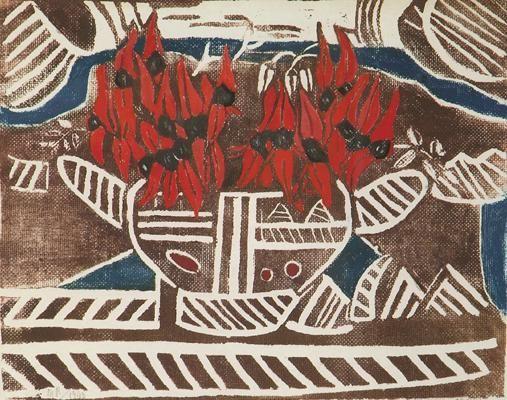 Aboriginal Design with Sturt's Pea