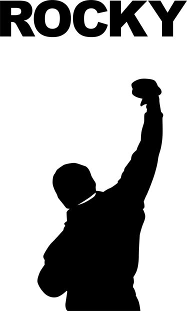 Image result for rocky balboa silhouette