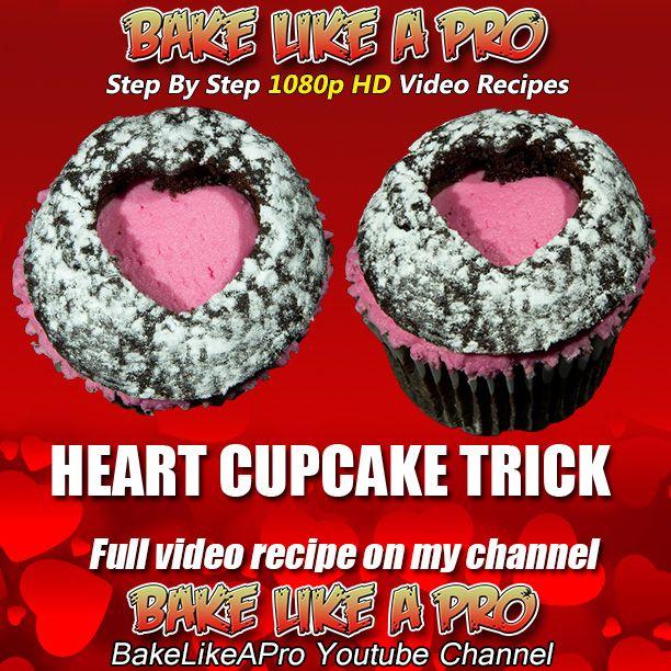 Valentine's Heart Cupcake Trick !  ►►► CLICK PICTURE for video recipe