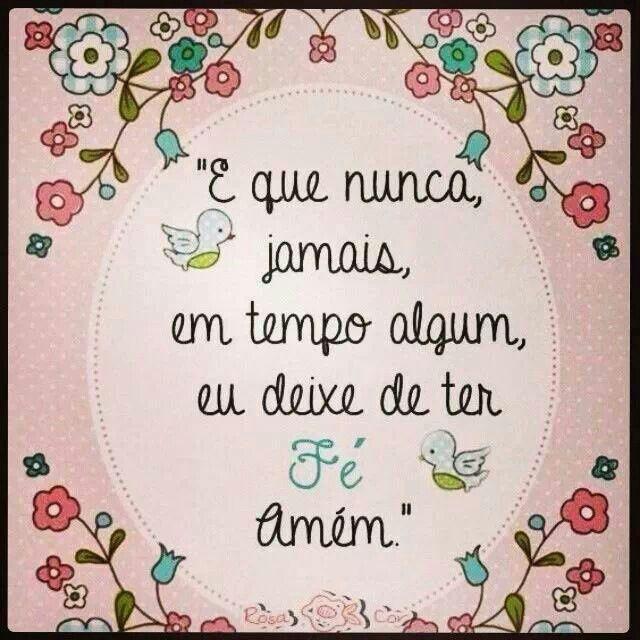Aumenta minha fé Senhor!
