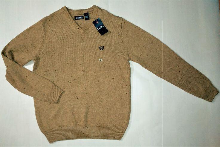 Our Best Selling Item Chaps Men's V-nec... Check it out here:  http://eden-online-boutique.com/products/nwt-chaps-mens-v-neck-mountain-sweater-coat-dark-beige-size-m?utm_campaign=social_autopilot&utm_source=pin&utm_medium=pin