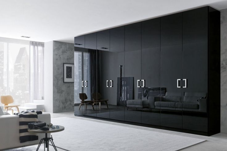 Captivating small classic mode bedroom wardrobe design with mirror