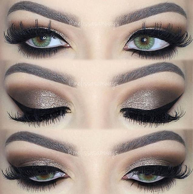 Dramatic Brown Smokey Eye Makeup by melissasamways