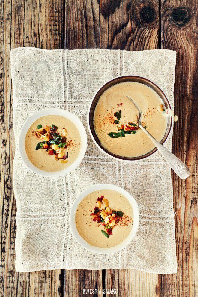 Kremowa zupa z kukurydzy z cynamonem | Kwestia Smaku