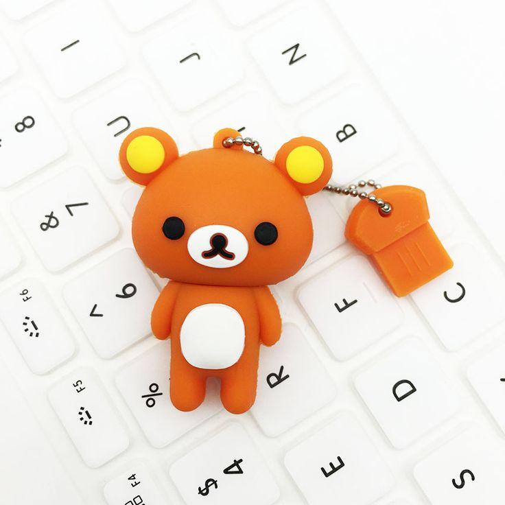 pen drive personalizado flash drive USB 128GB usb rilakkuma pen usb stick 128gb Rilakkuma Bear USB3.0 2.0 64GB 32GB 16GB 8GB 4GB