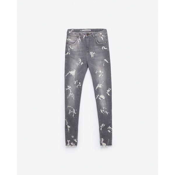SKINNY - JEANS MIT RISSEN-Alles anzeigen-JEANS-DAMEN   ZARA... (810 CZK) ❤ liked on Polyvore featuring jeans, cut skinny jeans, skinny leg jeans, white denim skinny jeans, denim skinny jeans and white skinny leg jeans