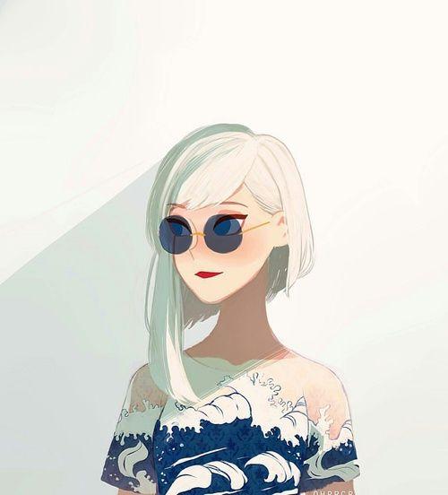Imagen de anime girl, beauty, and blue