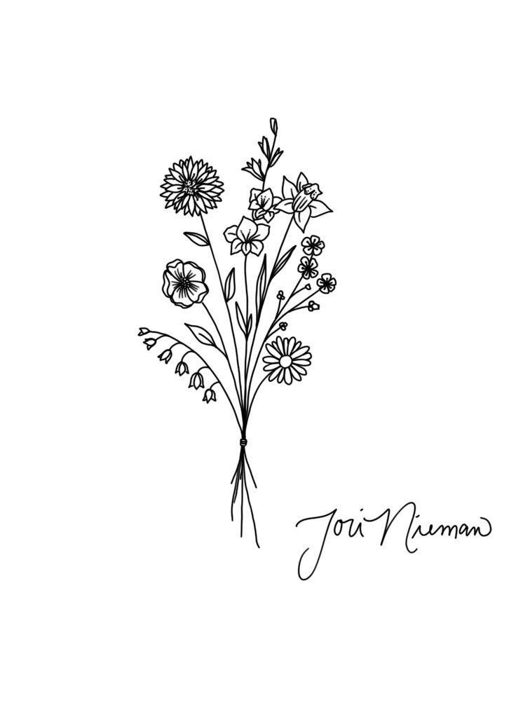 Bouquet Tattoo Design #flower #design #tattoo #flowertattoos