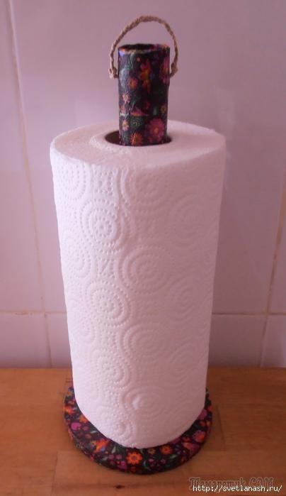 Делаем держатель для бумажных полотенец