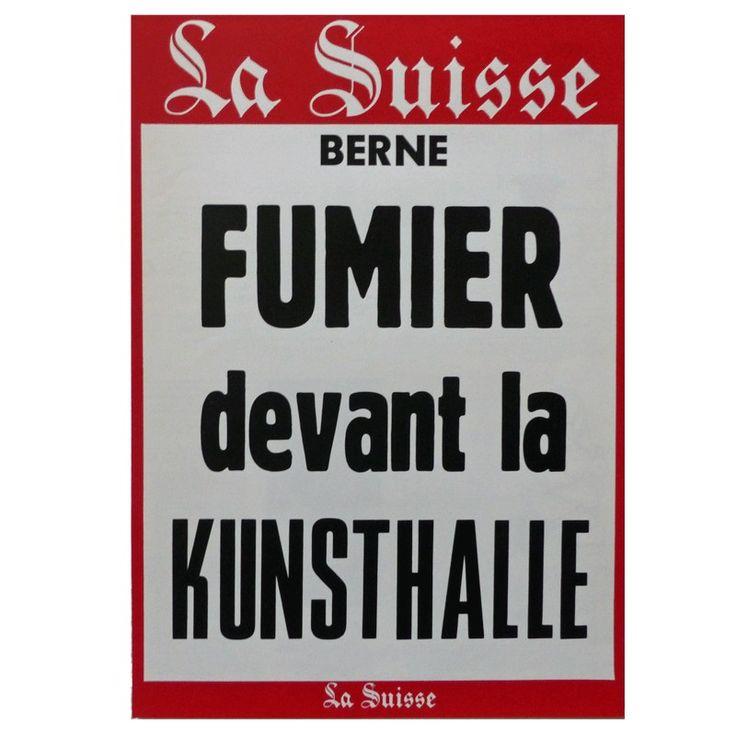 Klaus Rinke - Fumier devant la Kunsthalle (Manure outside the Kunsthalle) - 1970 - artistswhodothings