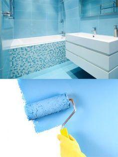 Cómo pintar azulejos - Hogarutil