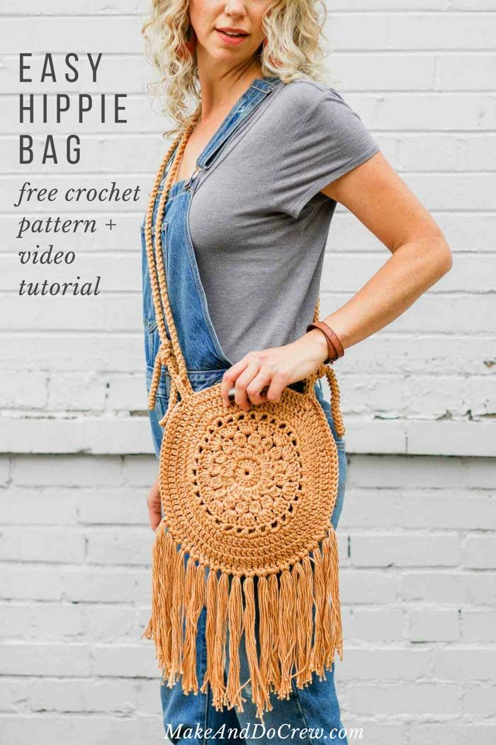 Easy Crochet Boho Circle Purse Pattern Free Pattern Video
