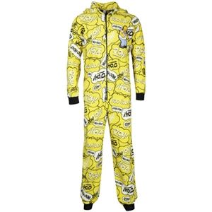 Homer Simpson Mens Printed Onesie (Yellow)