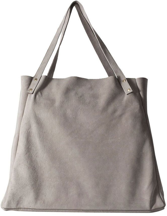 $130, Grey Suede Tote Bag: American Apparel Lepicier Suede Leather Bag. Sold by American Apparel. Click for more info: https://lookastic.com/women/shop_items/130667/redirect