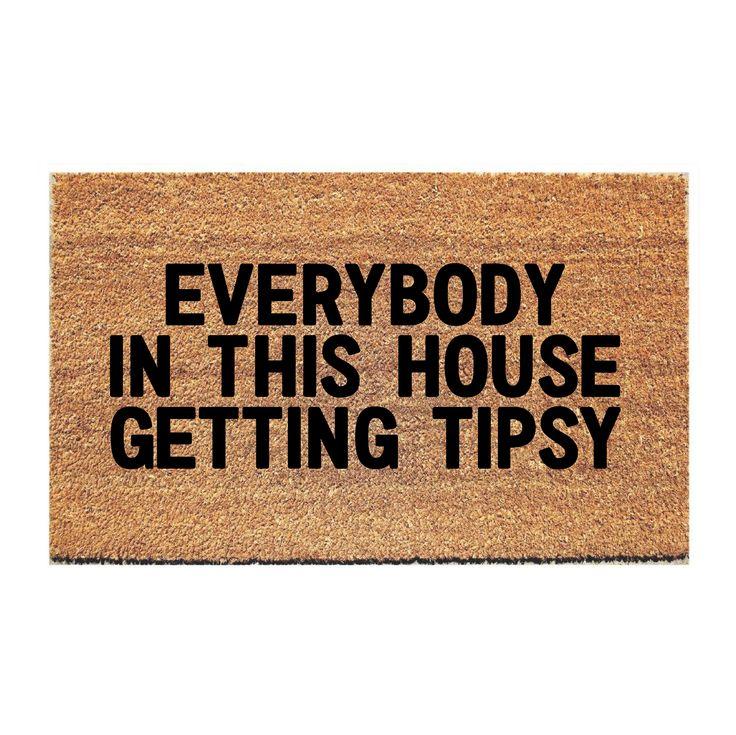 Tipsy Doormat Door Mat Funny Doormats Fall Doormat