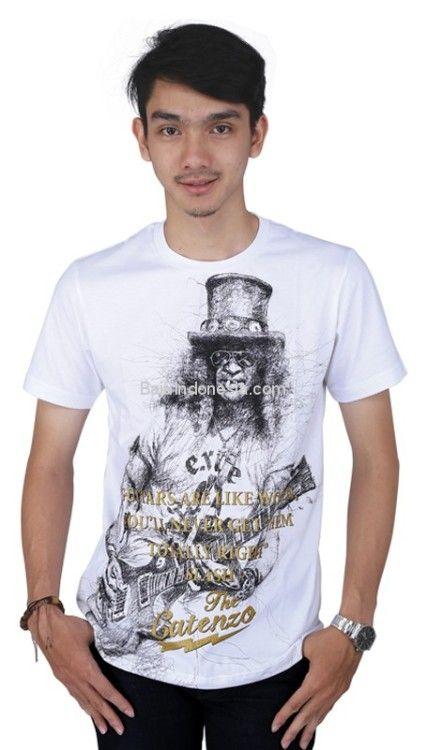 Kaos pria CTN 17-508 cotton putih L-XL. Rp 158.500. #baju...