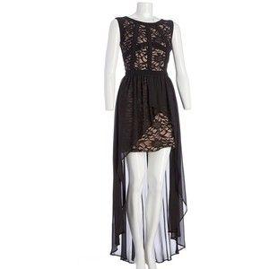 Hi Lo Lace Dress Jr 283766604 | Dresses | Junior | Shop by Size | Juniors | Burlington Coat Factory.