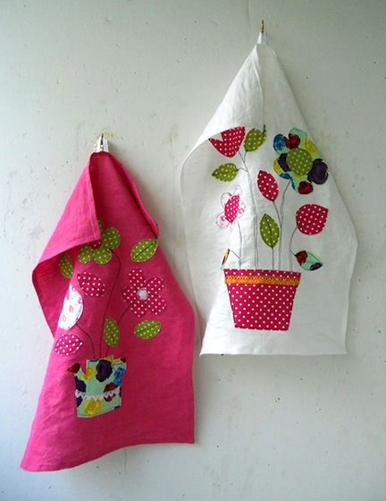 Just Plain Pretty  Tea Towel No 2 at Colorful Senses - Almost too pretty to use!
