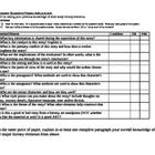 Literary Elements Diagnostics Check: How many literary elements your students are familiar with? This document checks their knowledge of protagonist, antagonist, satire, point of view, setting, irony, rising and falling action- 50 vocabulary terms in all.  The other document asks to read a short story, and gives questions using literary elements to gauge student understanding, such as which point of view, who is the antagonist, can you define irony- 12 questions in all. Grades 6-12. $