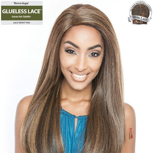 ISIS Brown Sugar Human Hair Blend Glueless Lace Front Wig - BSG202 NOLITA