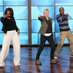 "Pin for Later: Michelle Obama and Ellen DeGeneres Break It Down to ""Uptown Funk"""