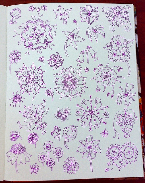 Flower Doodles - art journal inspiration