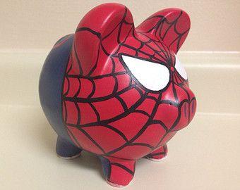 El asombroso Spider-Man pintado a mano de cerámica hucha