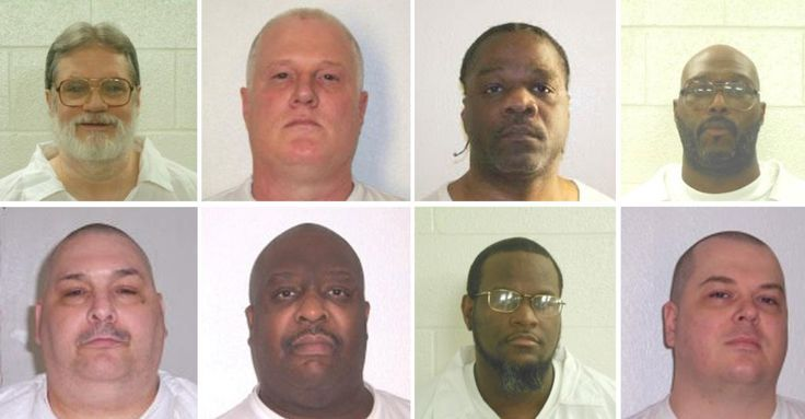 Arkansas' Supreme Court halted two executions hours before they were scheduled to take place on Monday, while a federal appeals court allowed a plan by the state that originally called for a record eight executions over 11 days in April.