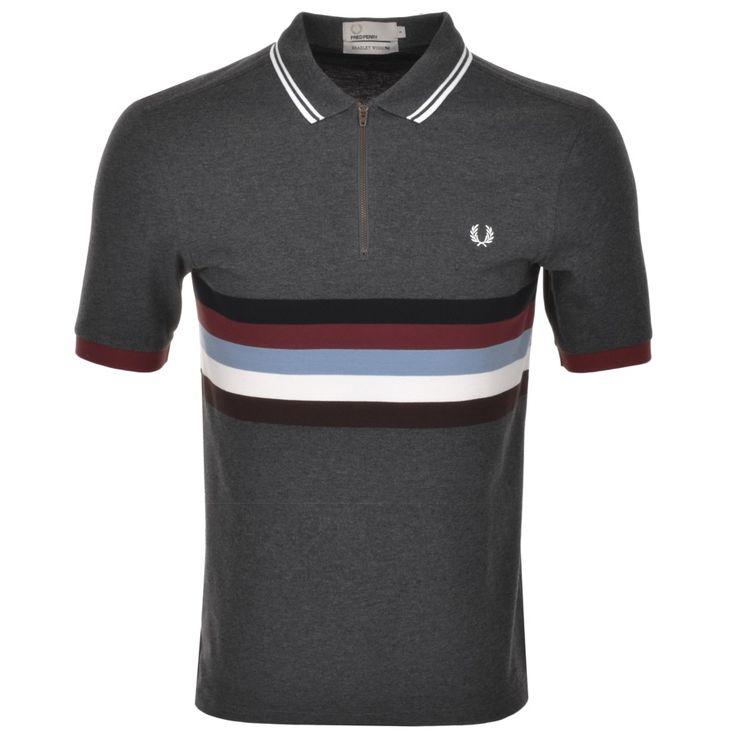 Fred Perry X Bradley Wiggins Stripe Polo Grey      @mainlinemenswear