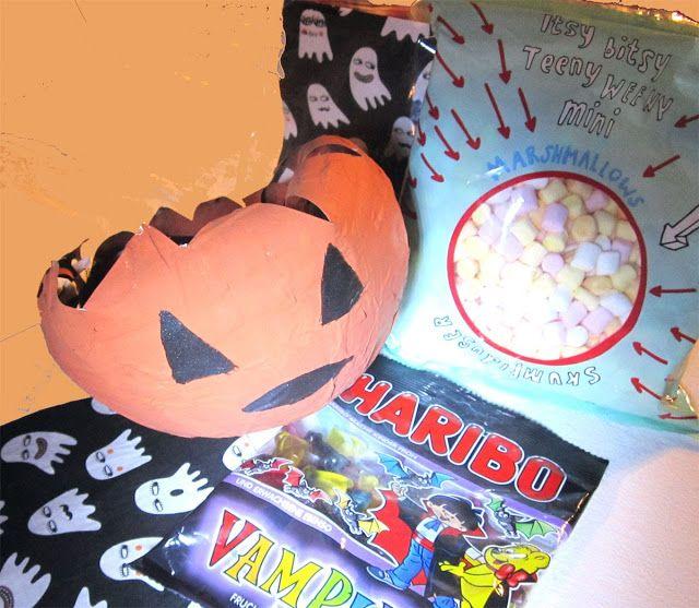 portacaramelle cartapesta Halloween bambini