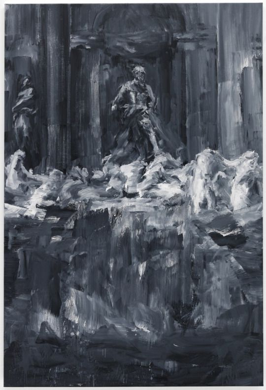 Yan Pei-Ming (Chinese, b. 1960), Fontaine de Trevi, 2015. Oil on canvas, 300 x 200 cm.
