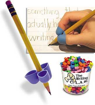 The Pencil Claw can be used by all students and is very helpful for who have motor difficulties or trouble with proper grip and handwriting. It works on pencils, pens, thin markers and colored pencils and can be used for right or left-handed students. They are small and can easily be transported anywhere that requires coloring, drawing or writing.
