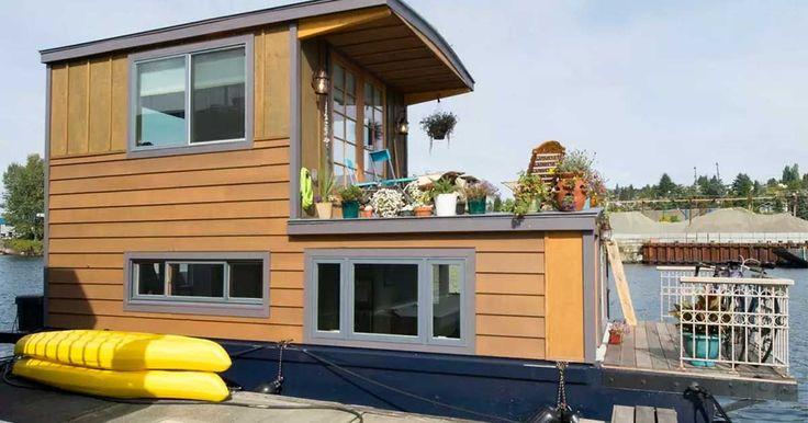 Bienvenidos a la casa flotante Rutabaga de Seattle