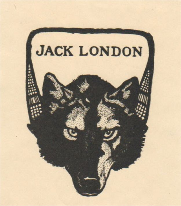 Jack London's Bookplate   35 Bookplates Belonging To Famous People - http://www.buzzfeed.com/babymantis/35-bookplates-belonging-to-famous-people-1opu