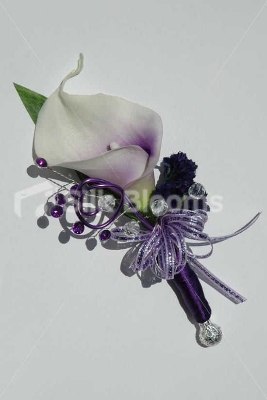 Beautiful Purple Centred White Picasso Lily Wedding Corsage Beautiful Purple Centred white Picasso Lily Wedding Corsage [Picasso - Corsage] - £19.99 : Silk Blooms UK